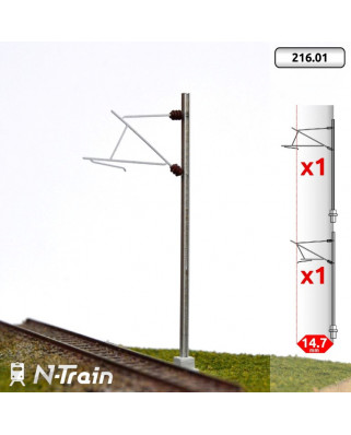 SNCF - H-Profile mast with 25kV Bracket - S (2 units)