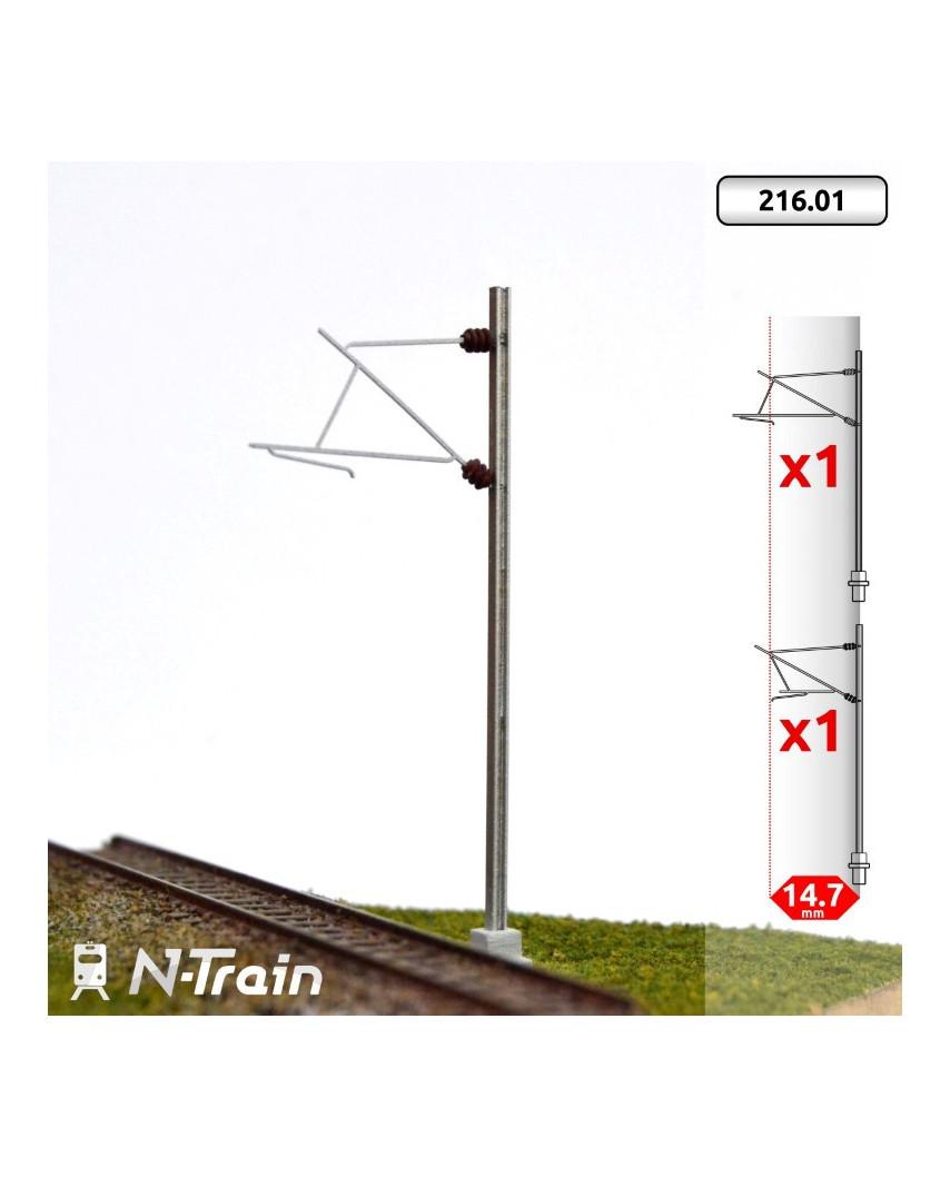 SNCF - Poste en H con ménsula para 25 kV - S (2 uds.)