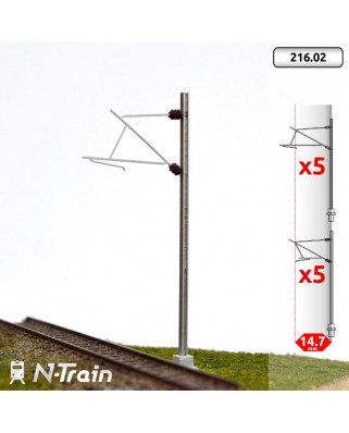 SNCF - Poste en H con ménsula para 25 kV - S (10 uds.)