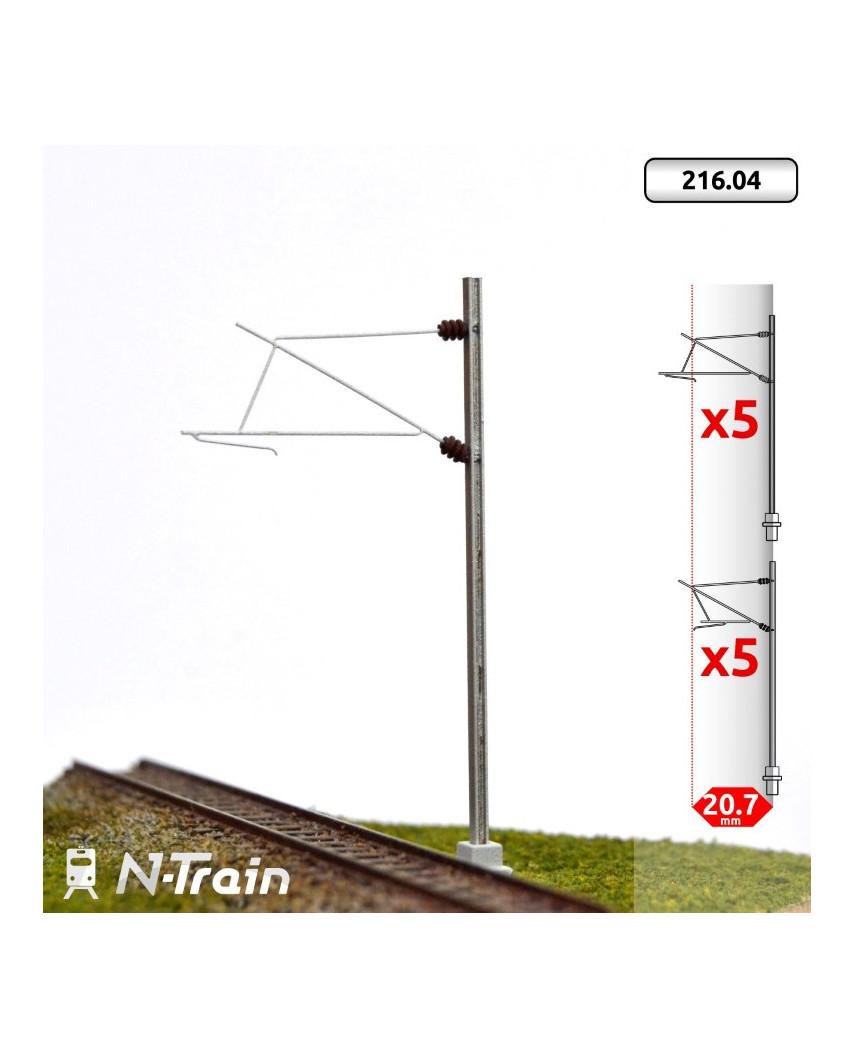 SNCF - Poste en H con ménsula para 25 kV - M (2 uds.)