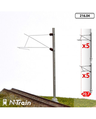 SNCF - H-Profile mast with 25kV Bracket - M (10 units)