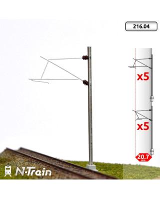 SNCF - Poste en H con ménsula para 25 kV - M (10 uds.)