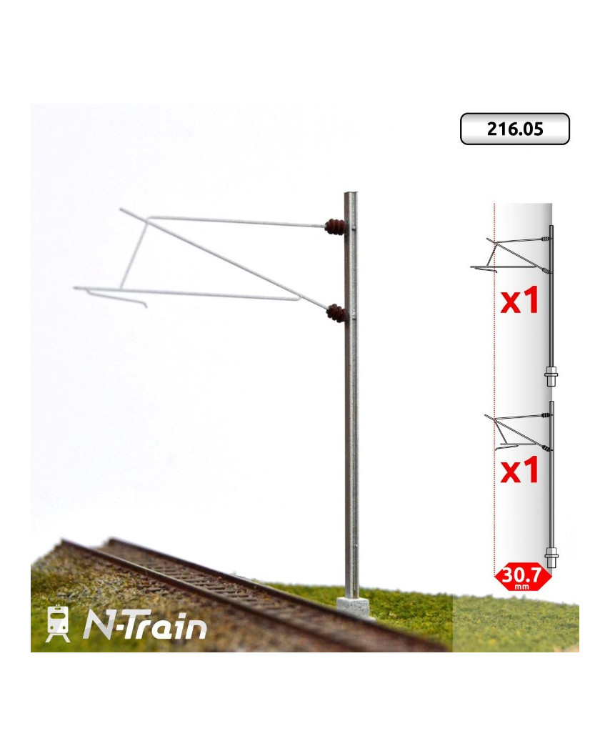 SNCF - Poste en H con ménsula para 25 kV - L1 (2 uds.)