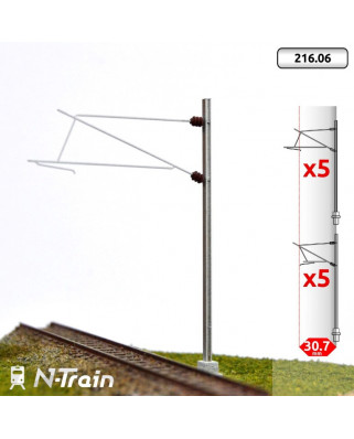 SNCF - H-Profile mast with 25kV Bracket - L1 (10 units)