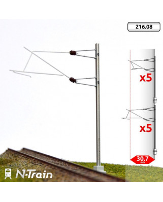 SNCF - Poste en H con ménsula para 25 kV - L2 (10 uds.)