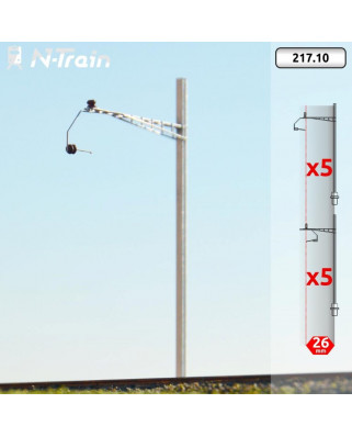 SBB - H-Profile mast with Gotthard type Bracket - L (10 units)