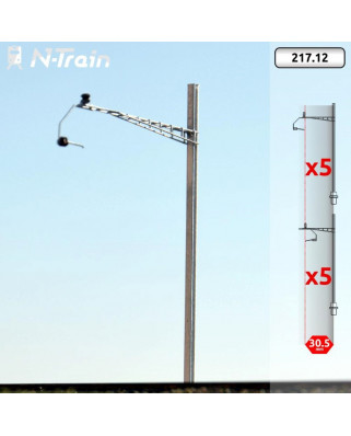 SBB - H-Profile mast with Gotthard type Bracket - XL (10 units)
