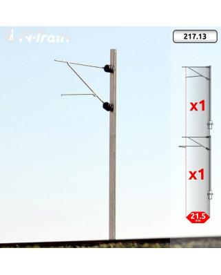 SBB - H-Profile mast with FL-140 Bracket - S (2 units)