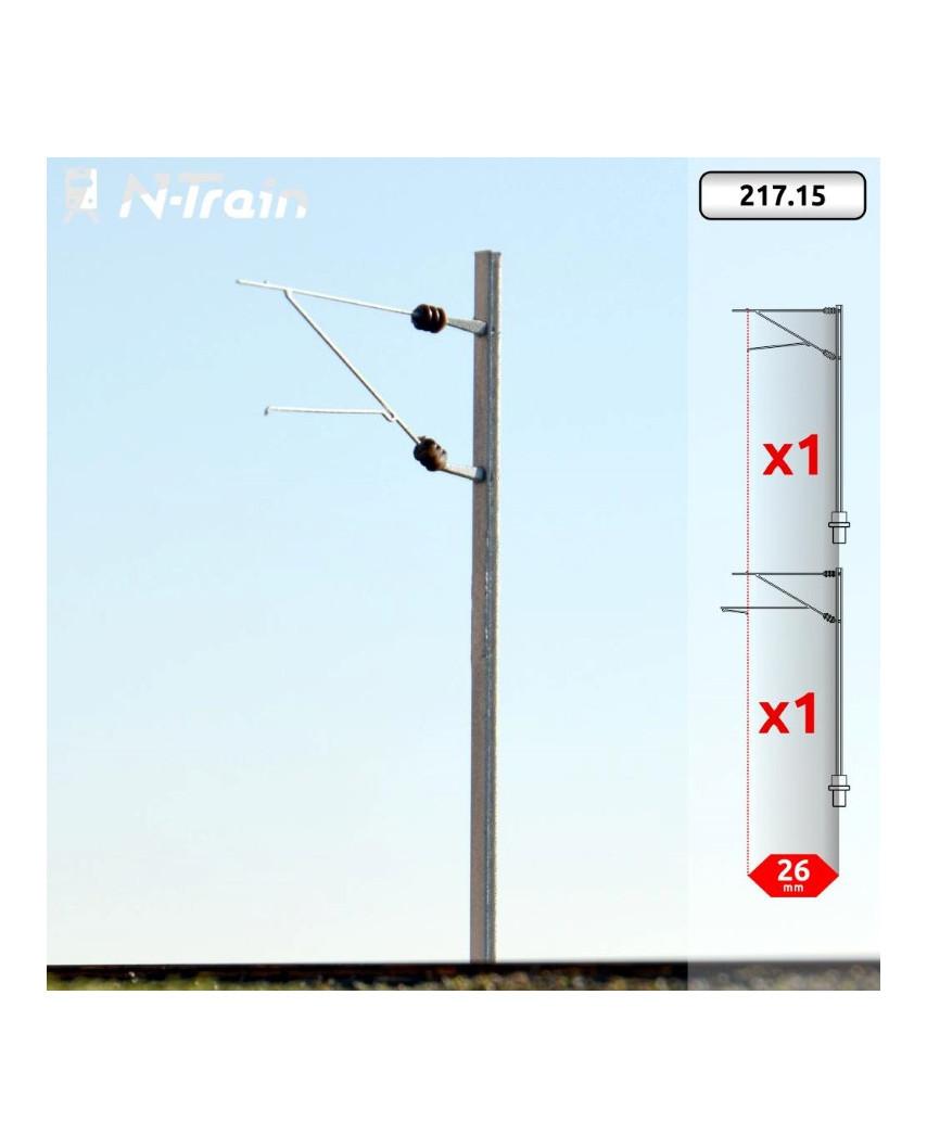 SBB - Poste en H con ménsula FL-140 - M (2 uds.)
