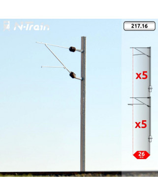 SBB - H-Profile mast with FL-140 Bracket - M (10 units)