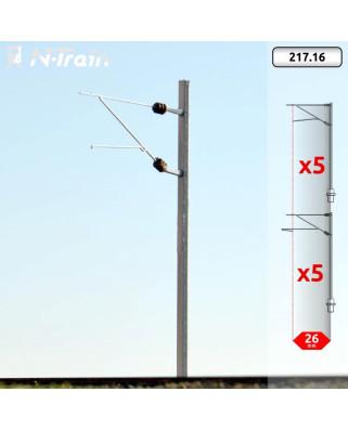 SBB - Poste en H con ménsula FL-140 - M (10 uds.)