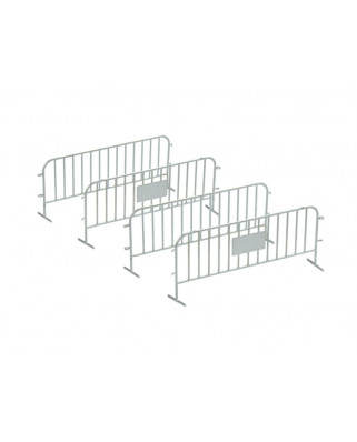 4 traffic fences - silver