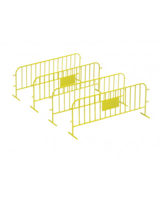 4 traffic fences - yellow