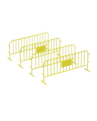 4 vallas de tráfico - amarillo