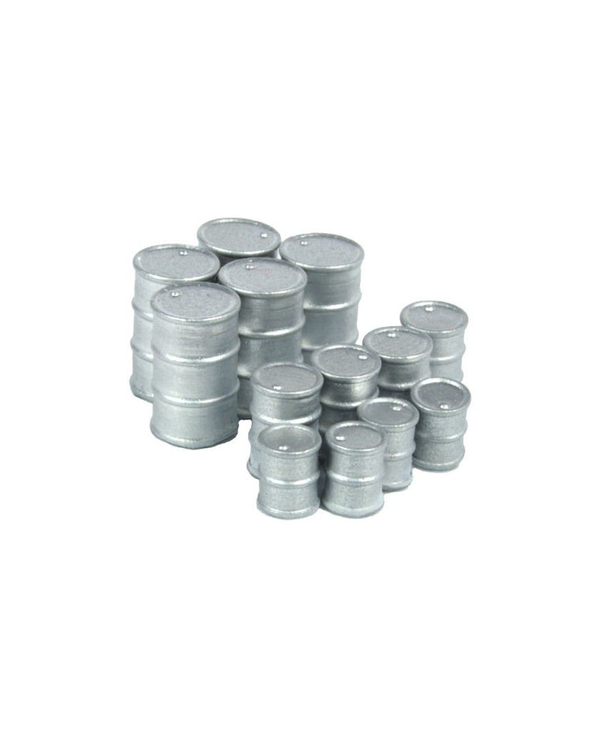 13 silver drums
