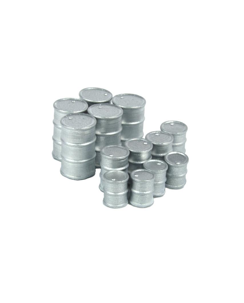 Metallfässer (13 St.) - Silber