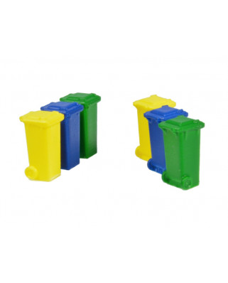 6 containers 100 l (Green, blue and yellow)