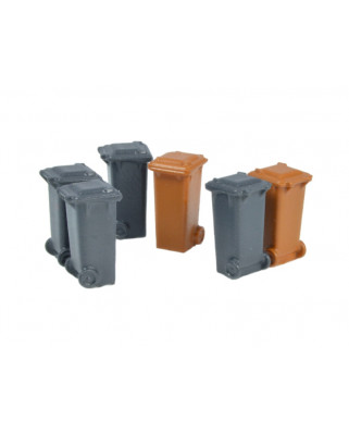 6 containers 100 l (Grey, brown)