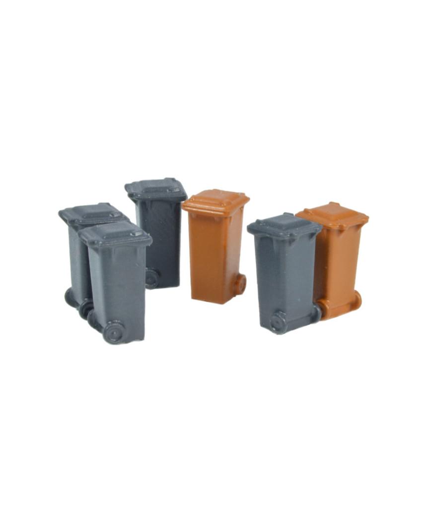 Container 100 l. -Grau, Braun- (6 St.)