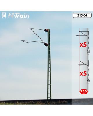 DB - Postes de celosía con ménsula Re160 - S (10 uds.)