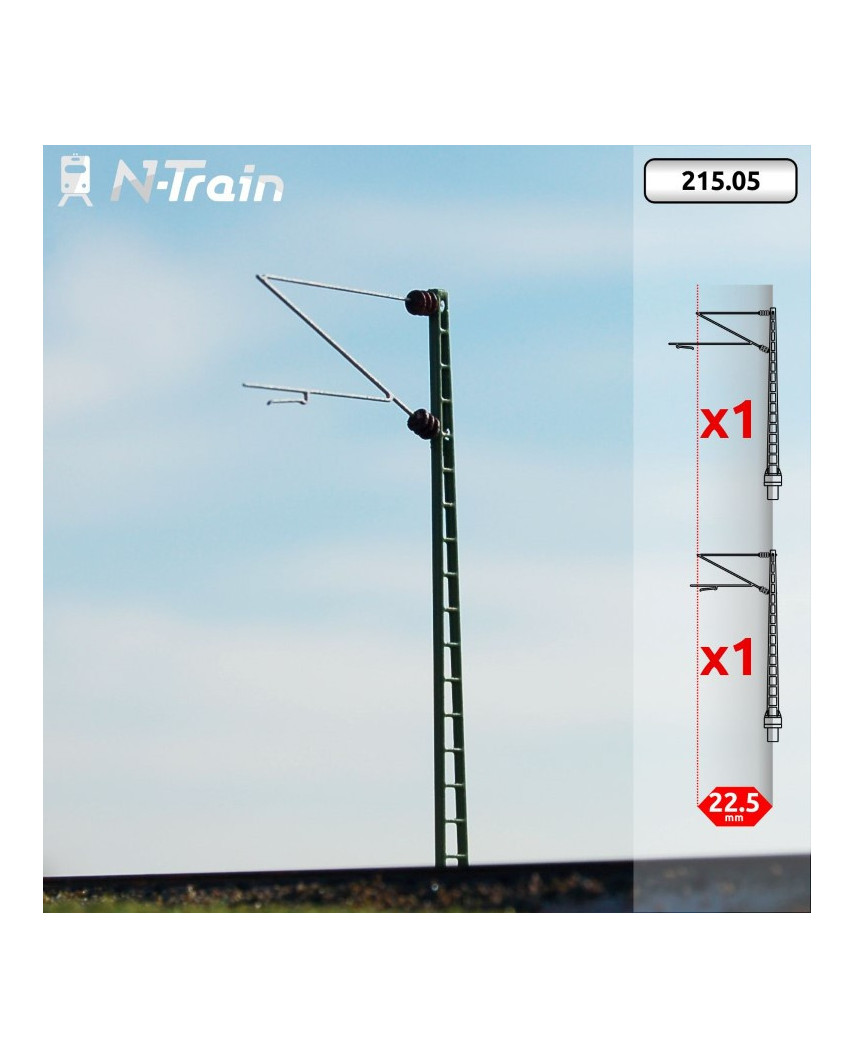 DB - Postes de celosía con ménsula Re160 - M (2 uds.)