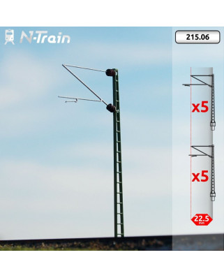 DB - Postes de celosía con ménsula Re160 - M (10 uds.)