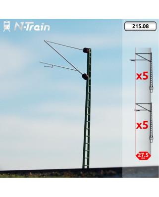 DB - Postes de celosía con ménsula Re160 - L (10 uds.)