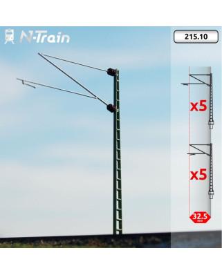 DB - Postes de celosía con ménsula Re160 - XL (10 uds.)