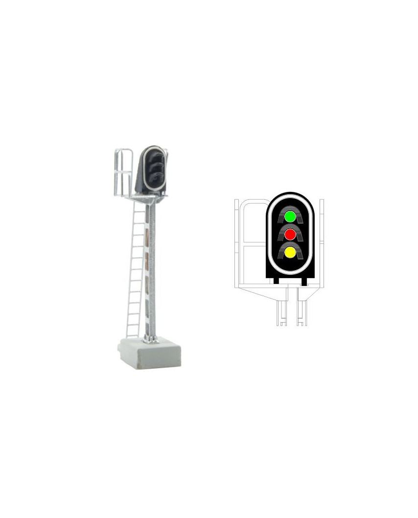 SNCF - Hauptsignal mit 3 LEDs (Grün/Rot/Gelb)