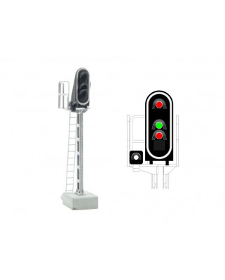 SNCF - Main signal with 4 LEDs (Red/Green/Red/White)