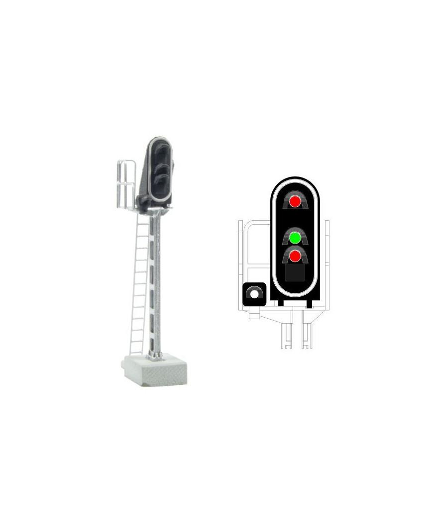 SNCF - Hauptsignal mit 4 LEDs (Rot/Grün/Rot/Weiss)