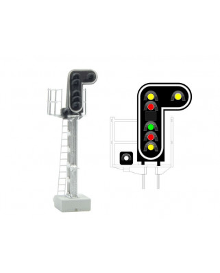 SNCF - Main signal with 7 LEDs (DoubleYellow/Red/Green/Red/Yellow/White)