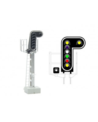 SNCF - Main signal with 8 LEDs (DoubleYellow/Purple/White/Green/Red/Yellow/White)