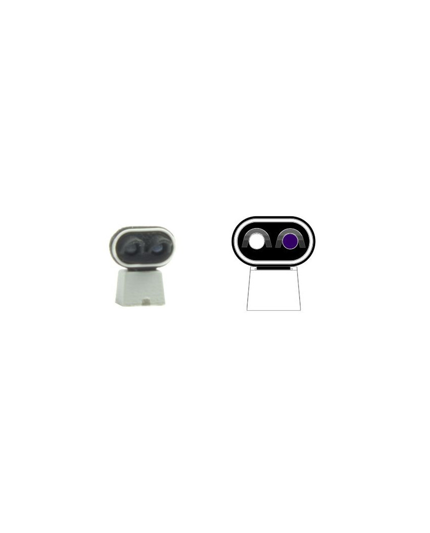 SNCF - Dwarf signal with 2 LEDs (White+Purple)