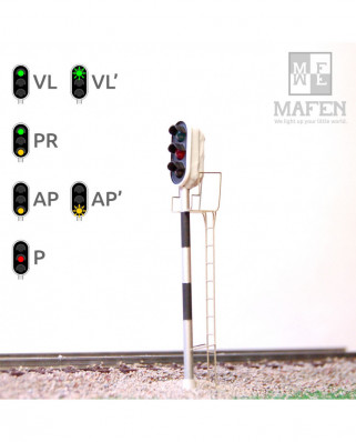RENFE - Main signal with 3 LEDs (Green/Red/Yellow)
