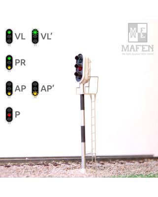 RENFE - Signal principal avec 3 LEDs (vert/rouge/jaune)