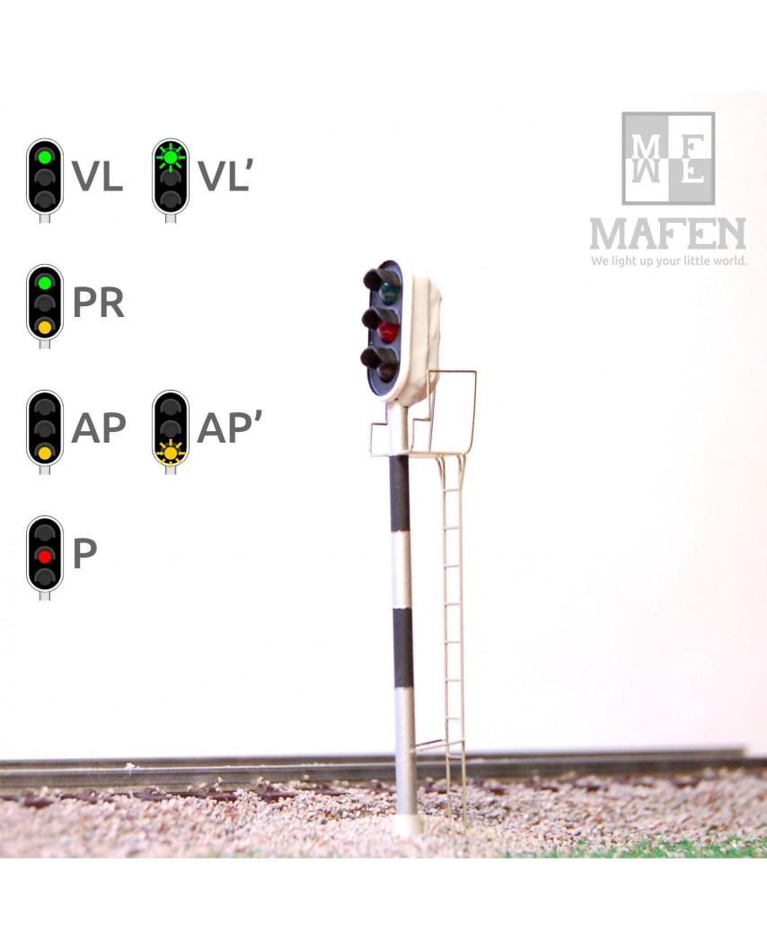 RENFE - Señal principal con 3 Leds (verde/rojo/ámbar)