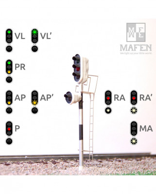 RENFE - Main signal with 4 LEDs (Green/Red/Yellow/White)