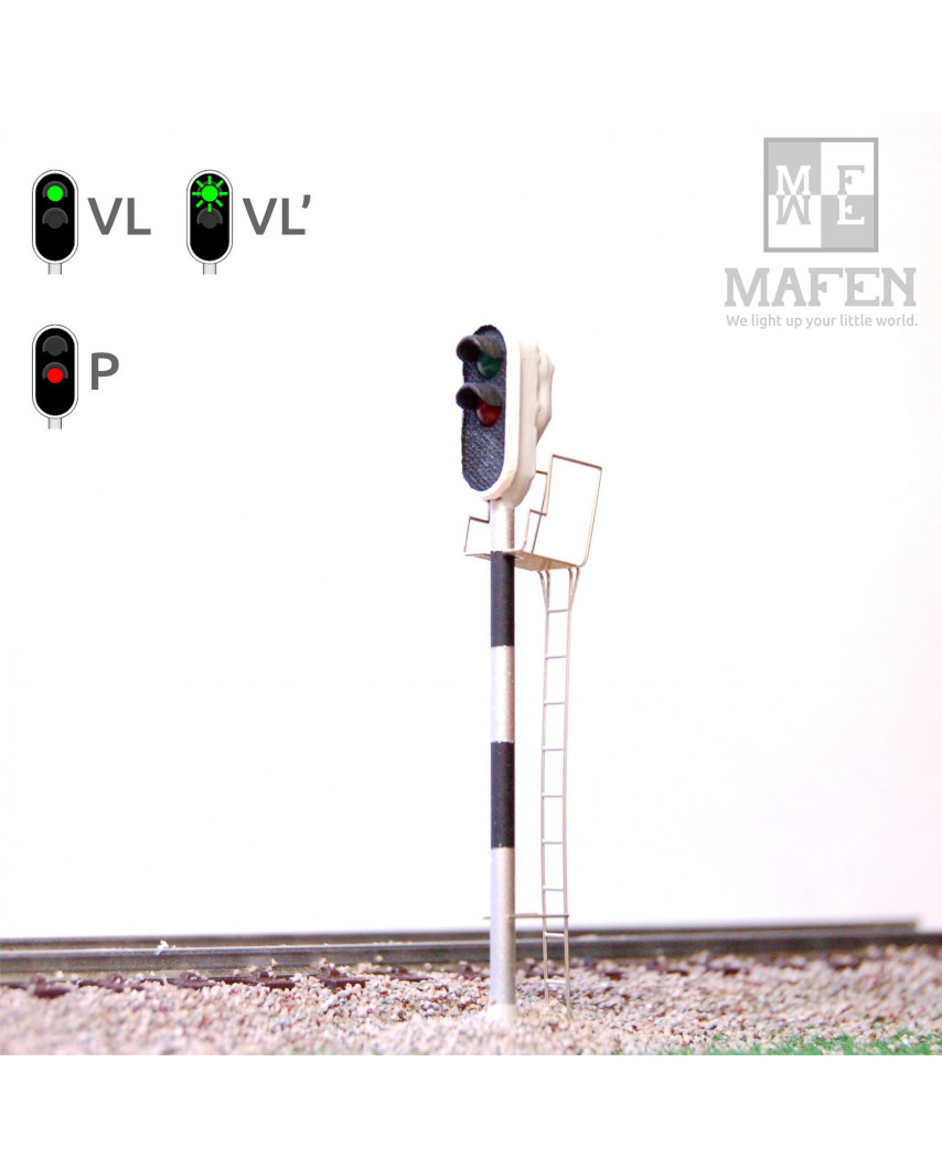 RENFE - Main signal with 2 LEDs (Green/Red)