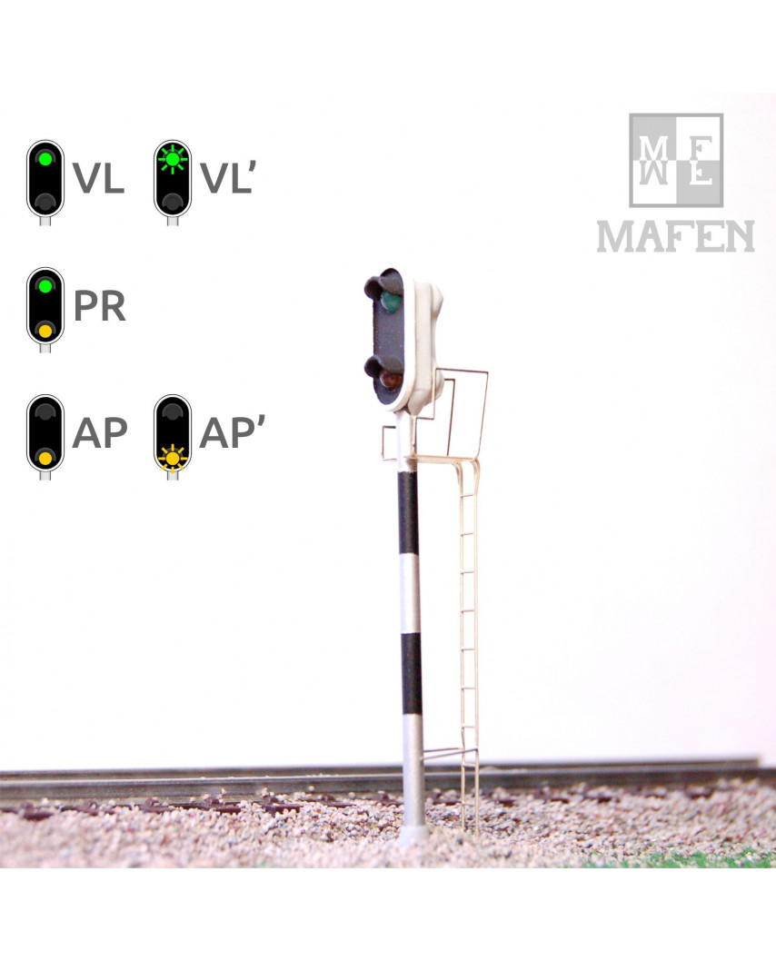 RENFE - Distant signal with 2 LEDs (Green/Yellow)
