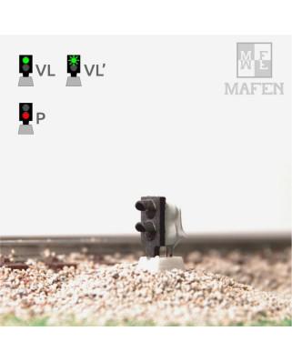RENFE - Signal nain avec 2 LEDs (vert/rouge)