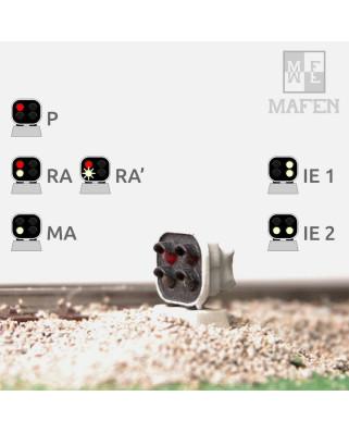 RENFE - Signal nain avec 4 LEDs (rouge/blanc+blanc/blanc)