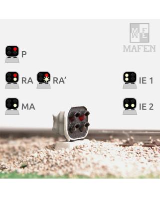RENFE - Signal nain avec 4 LEDs (blanc/blanc+rouge/blanc)