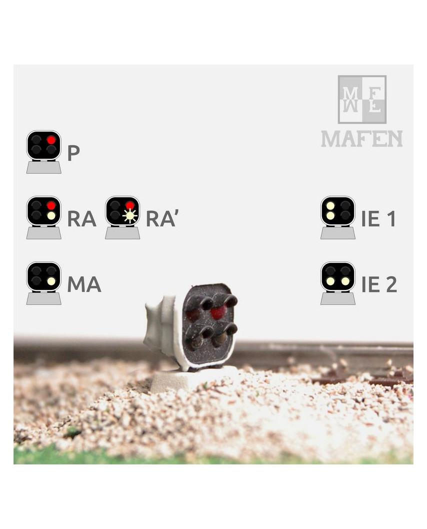 RENFE - Señal baja con 4 Leds (blanco/blanco+rojo/blanco)