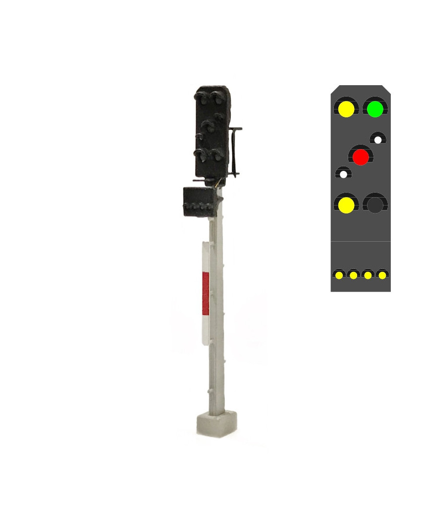 DR - Signal combiné (7L) - j/v/b/r/b/j + j