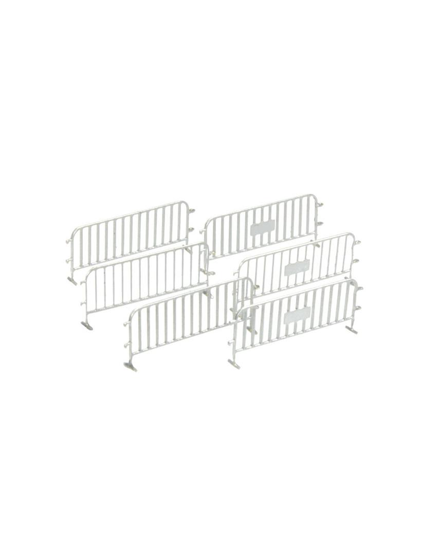 6 traffic fences - silver