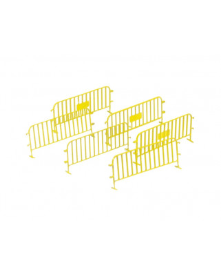 6 traffic fences - yellow