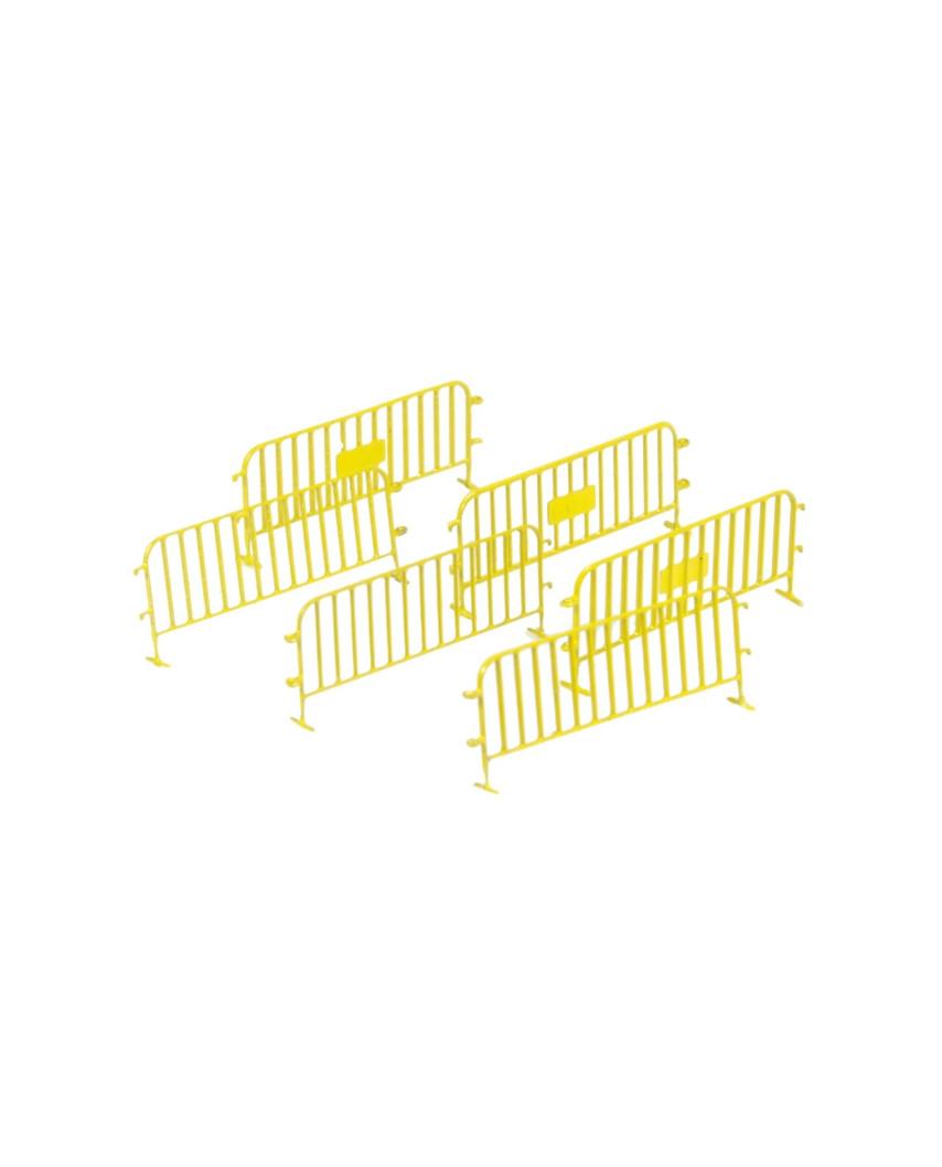 6 Vallas de tráfico - amarillo