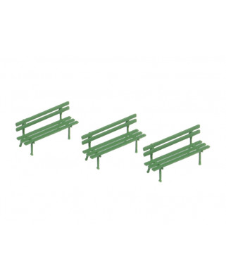 3 benches - green