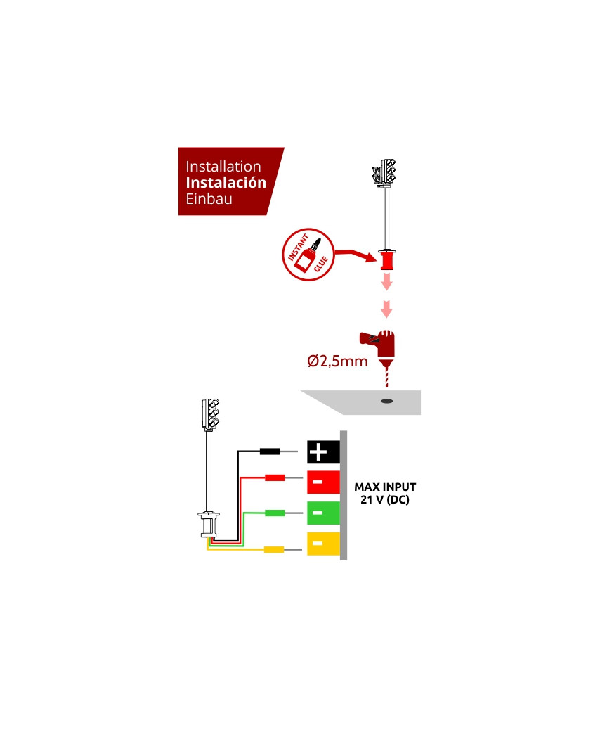Semáforos para vehículos (2 unidades)